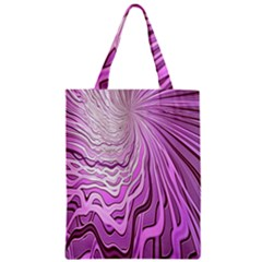Light Pattern Abstract Background Wallpaper Zipper Classic Tote Bag