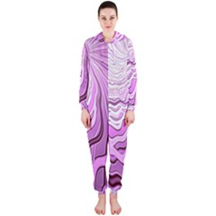 Light Pattern Abstract Background Wallpaper Hooded Jumpsuit (Ladies)