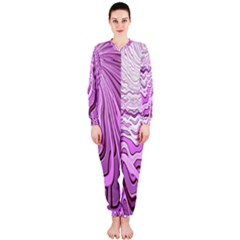 Light Pattern Abstract Background Wallpaper OnePiece Jumpsuit (Ladies)