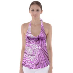 Light Pattern Abstract Background Wallpaper Babydoll Tankini Top