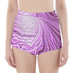Light Pattern Abstract Background Wallpaper High Waisted Bikini Bottoms