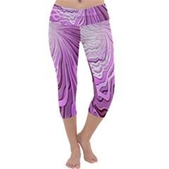 Light Pattern Abstract Background Wallpaper Capri Yoga Leggings