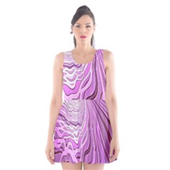 Light Pattern Abstract Background Wallpaper Scoop Neck Skater Dress