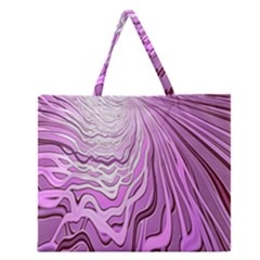 Light Pattern Abstract Background Wallpaper Zipper Large Tote Bag