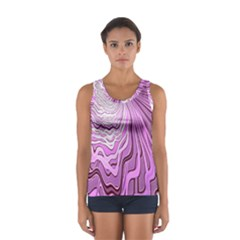 Light Pattern Abstract Background Wallpaper Women s Sport Tank Top