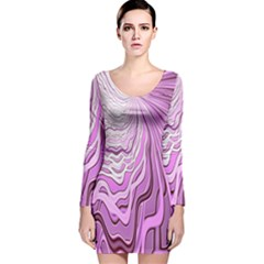 Light Pattern Abstract Background Wallpaper Long Sleeve Velvet Bodycon Dress