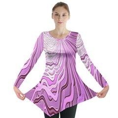 Light Pattern Abstract Background Wallpaper Long Sleeve Tunic