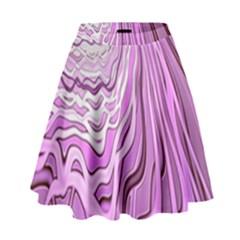 Light Pattern Abstract Background Wallpaper High Waist Skirt