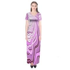 Light Pattern Abstract Background Wallpaper Short Sleeve Maxi Dress