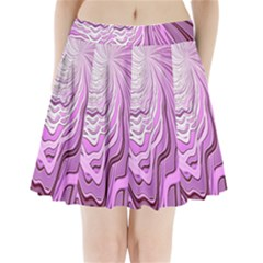 Light Pattern Abstract Background Wallpaper Pleated Mini Skirt