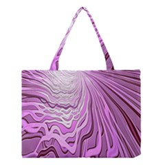 Light Pattern Abstract Background Wallpaper Medium Tote Bag