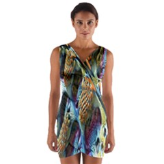 Background, Wallpaper, Texture Wrap Front Bodycon Dress