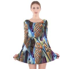 Background, Wallpaper, Texture Long Sleeve Velvet Skater Dress