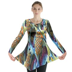 Background, Wallpaper, Texture Long Sleeve Tunic