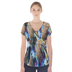 Background, Wallpaper, Texture Short Sleeve Front Detail Top