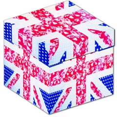 British Flag Abstract British Union Jack Flag In Abstract Design With Flowers Storage Stool 12