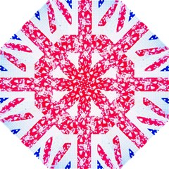 British Flag Abstract British Union Jack Flag In Abstract Design With Flowers Hook Handle Umbrellas (Large)