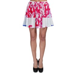 British Flag Abstract British Union Jack Flag In Abstract Design With Flowers Skater Skirt