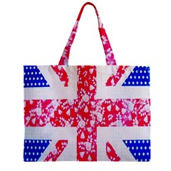 British Flag Abstract British Union Jack Flag In Abstract Design With Flowers Mini Tote Bag