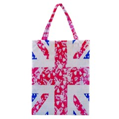British Flag Abstract British Union Jack Flag In Abstract Design With Flowers Classic Tote Bag