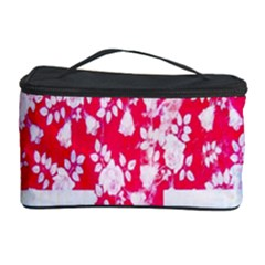 British Flag Abstract British Union Jack Flag In Abstract Design With Flowers Cosmetic Storage Case