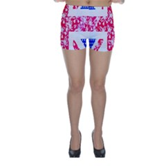 British Flag Abstract British Union Jack Flag In Abstract Design With Flowers Skinny Shorts