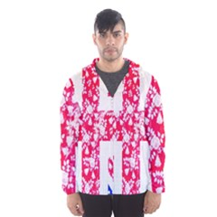 British Flag Abstract British Union Jack Flag In Abstract Design With Flowers Hooded Wind Breaker (men)