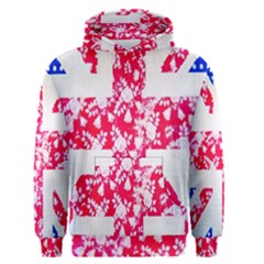 British Flag Abstract British Union Jack Flag In Abstract Design With Flowers Men s Pullover Hoodie