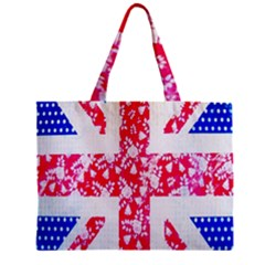 British Flag Abstract British Union Jack Flag In Abstract Design With Flowers Zipper Mini Tote Bag