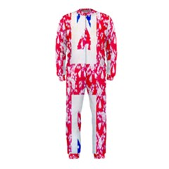 British Flag Abstract British Union Jack Flag In Abstract Design With Flowers OnePiece Jumpsuit (Kids)