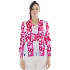 British Flag Abstract British Union Jack Flag In Abstract Design With Flowers Wind Breaker (Women)