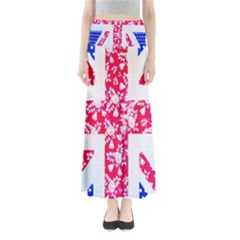 British Flag Abstract British Union Jack Flag In Abstract Design With Flowers Maxi Skirts