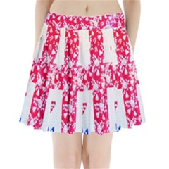 British Flag Abstract British Union Jack Flag In Abstract Design With Flowers Pleated Mini Skirt