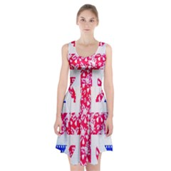 British Flag Abstract British Union Jack Flag In Abstract Design With Flowers Racerback Midi Dress