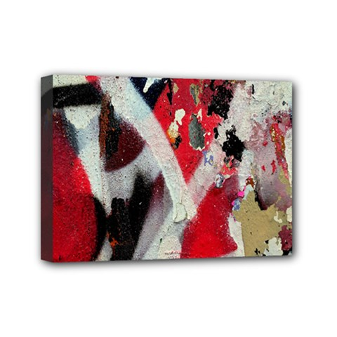 Abstract Graffiti Background Wallpaper Of Close Up Of Peeling Mini Canvas 7  x 5