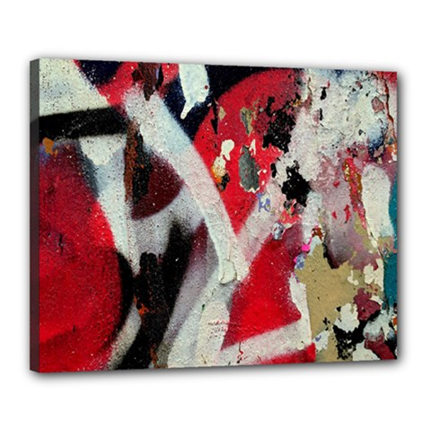 Abstract Graffiti Background Wallpaper Of Close Up Of Peeling Canvas 20  x 16