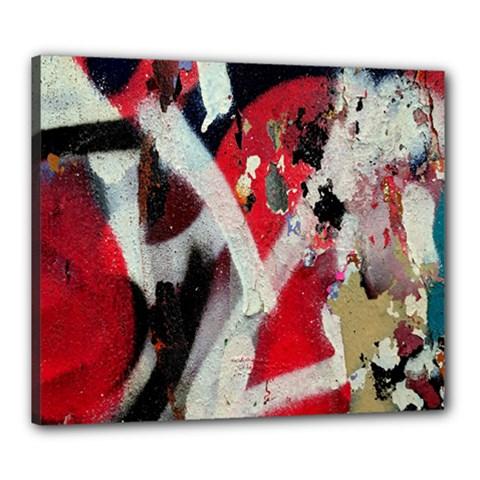 Abstract Graffiti Background Wallpaper Of Close Up Of Peeling Canvas 24  x 20