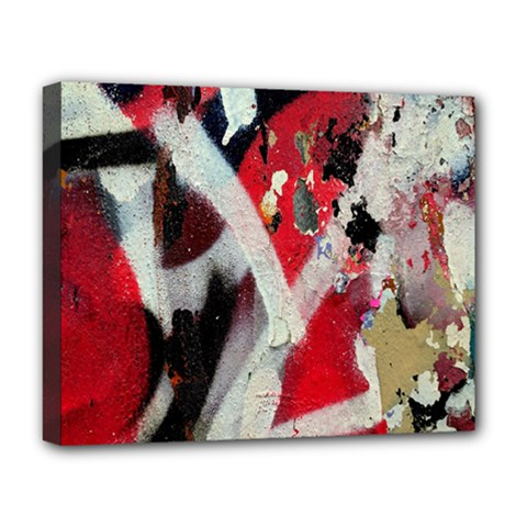 Abstract Graffiti Background Wallpaper Of Close Up Of Peeling Deluxe Canvas 20  X 16