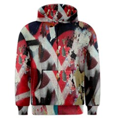 Abstract Graffiti Background Wallpaper Of Close Up Of Peeling Men s Zipper Hoodie