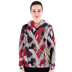 Abstract Graffiti Background Wallpaper Of Close Up Of Peeling Women s Zipper Hoodie
