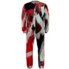 Abstract Graffiti Background Wallpaper Of Close Up Of Peeling Onepiece Jumpsuit (men)