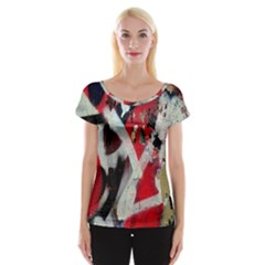 Abstract Graffiti Background Wallpaper Of Close Up Of Peeling Women s Cap Sleeve Top