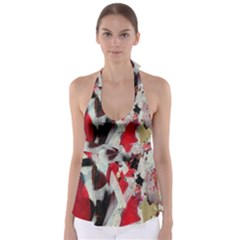 Abstract Graffiti Background Wallpaper Of Close Up Of Peeling Babydoll Tankini Top