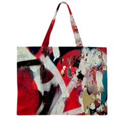 Abstract Graffiti Background Wallpaper Of Close Up Of Peeling Large Tote Bag