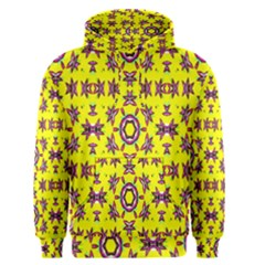 Yellow Seamless Wallpaper Digital Computer Graphic Men s Pullover Hoodie
