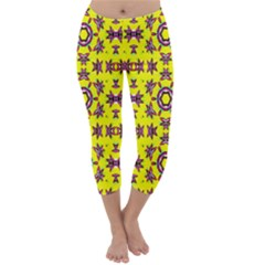 Yellow Seamless Wallpaper Digital Computer Graphic Capri Winter Leggings