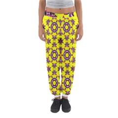 Yellow Seamless Wallpaper Digital Computer Graphic Women s Jogger Sweatpants