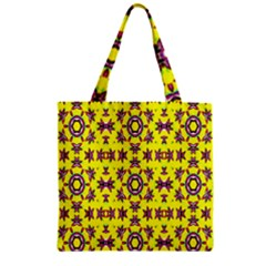 Yellow Seamless Wallpaper Digital Computer Graphic Zipper Grocery Tote Bag