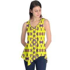 Yellow Seamless Wallpaper Digital Computer Graphic Sleeveless Tunic