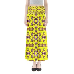 Yellow Seamless Wallpaper Digital Computer Graphic Maxi Skirts